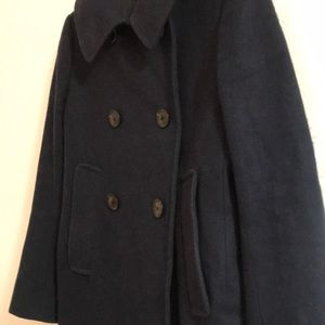 Uniqlo Jackets & Coats - Uniqlo +J Jil Sander Navy Wool Pea Coat